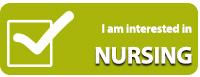 Interested in nursing program button
