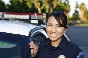 Hispanic police woman
