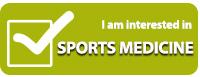 Interested in sports medicine program button