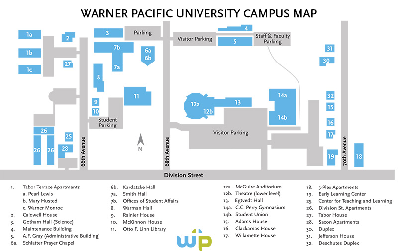 2016-Campus-Map - Warner Pacific University on