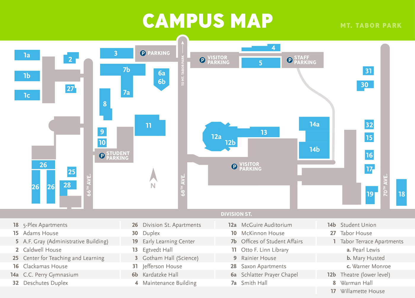 Warner Pacific University Campus Map - Warner Pacific University