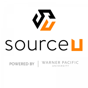 sourceU Logo Powered by Warner Pacific