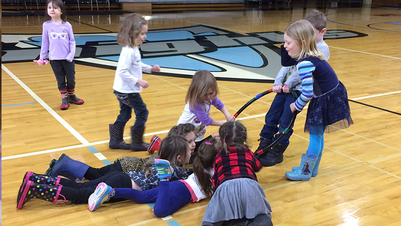Early Learning Center kids playing in gym