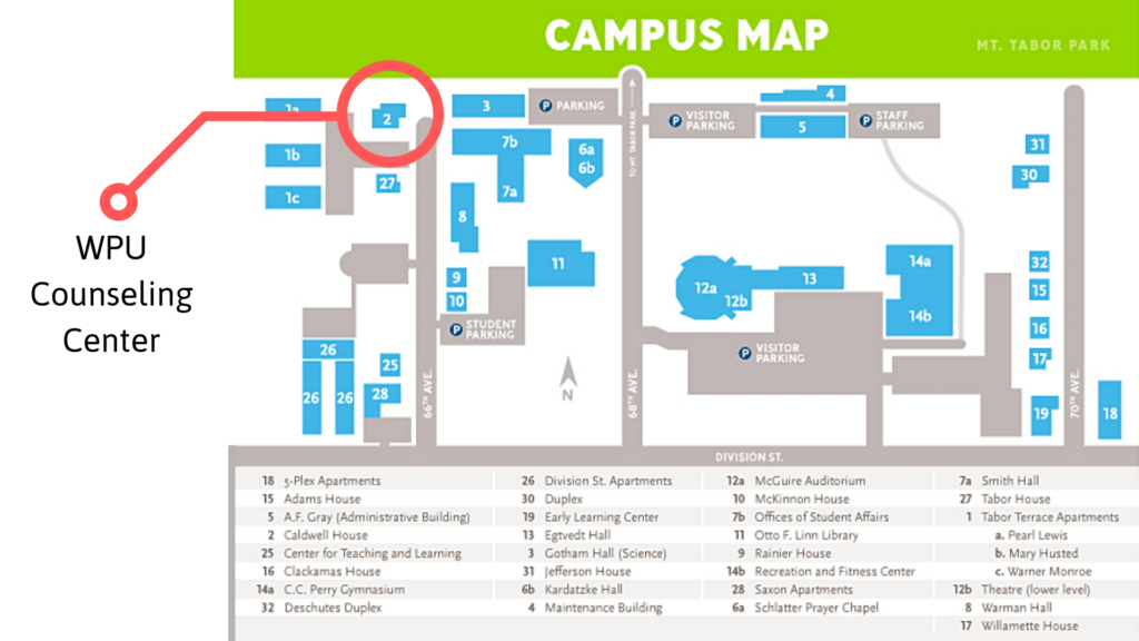 WPU Counseling Center on map